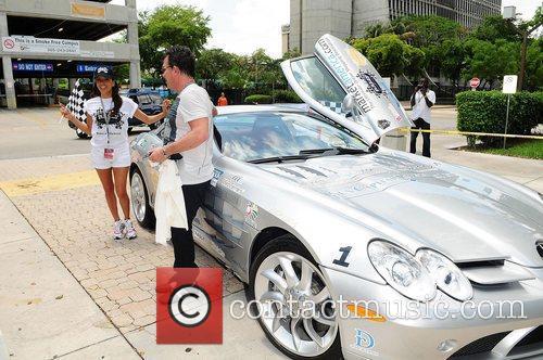 Eva Longoria and JR Ridinger participate in Rally...