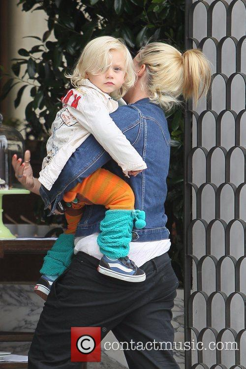 Zuma Rossdale and nanny Gwen Stefani's youngest son...