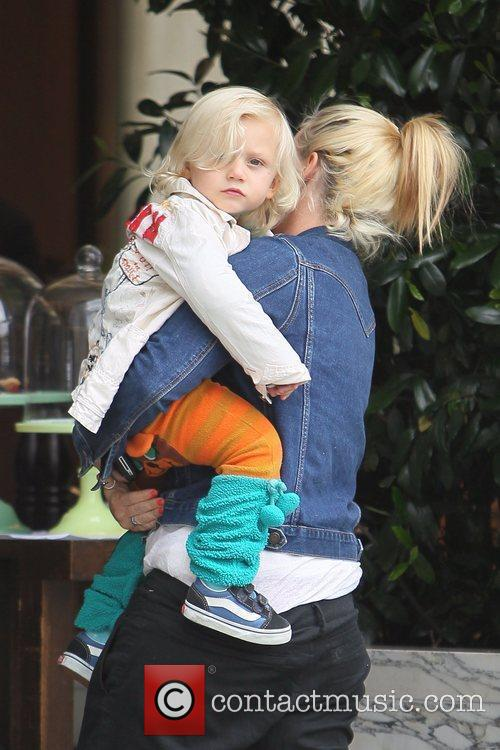 Gwen Stefani's youngest son after a family lunch...