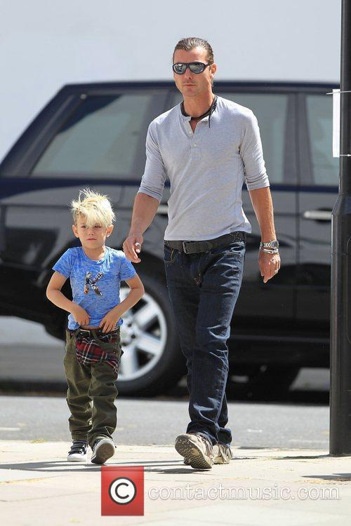 In Primrose hill with his son Kingston