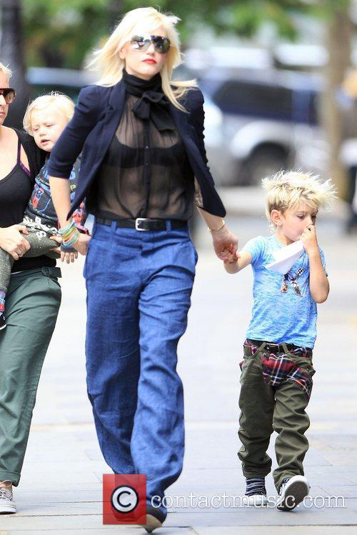 Gwen Stefani in Primrose hill with her sons...