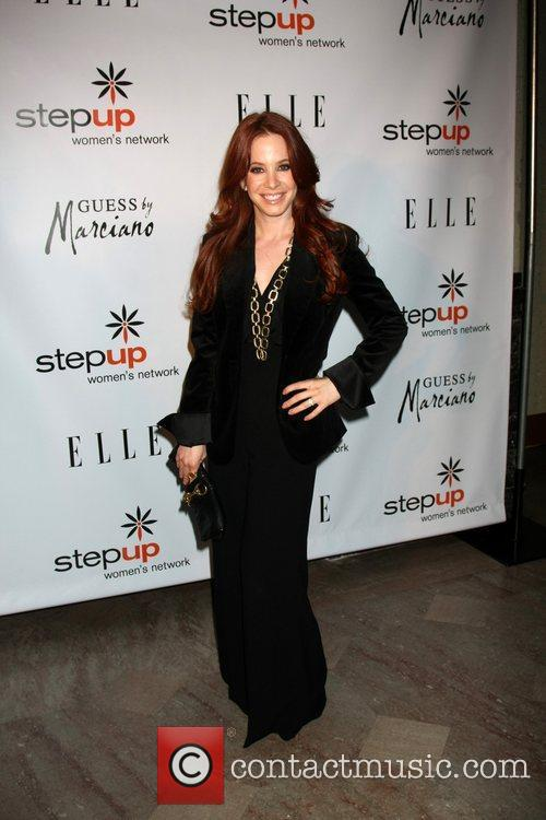 Amy Davidson arriving at the Stepping Up In...