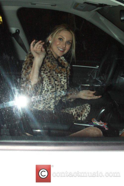 Stephanie Pratt is seen leaving Katsuya restaurant