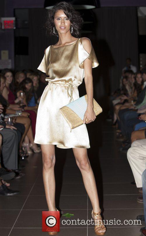 Jaslene Gonzalez  Stephen Mikhail Resort 2012 Fashion...
