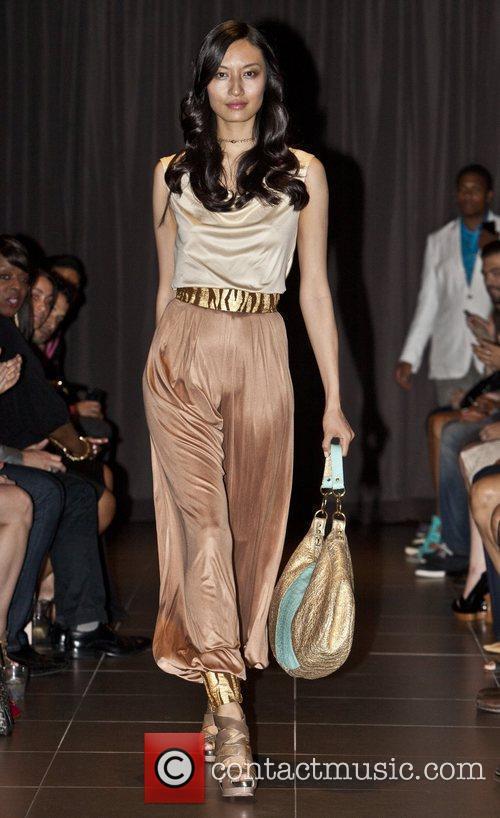 Model Stephen Mikhail Resort 2012 Fashion Show to...