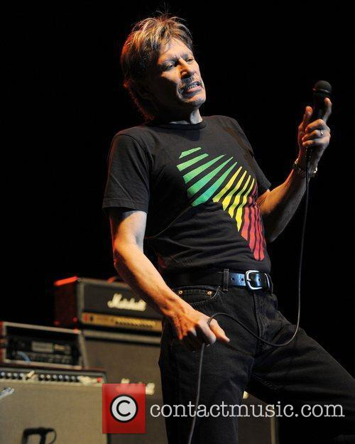 John Kay of Steppenwolf performing live on stage...