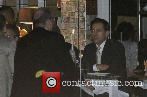 Steve Carell dining with friends at North Bondi...
