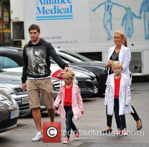 Steven Gerrard and Alex Curran 5