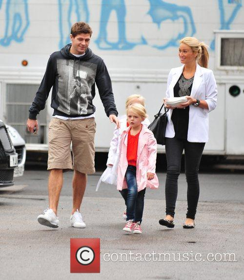 Steven Gerrard and Alex Curran 7