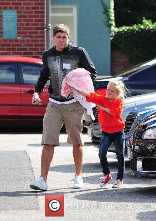 Steven Gerrard and Alex Curran 1