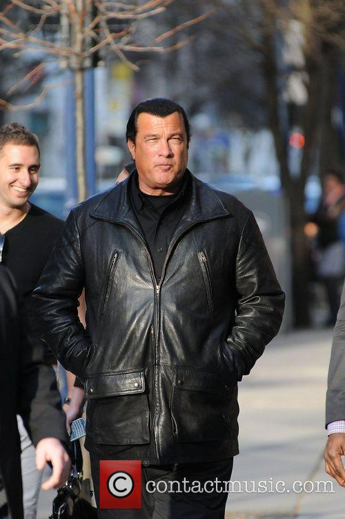 Steven Seagal out and about in Yorkville Toronto,...