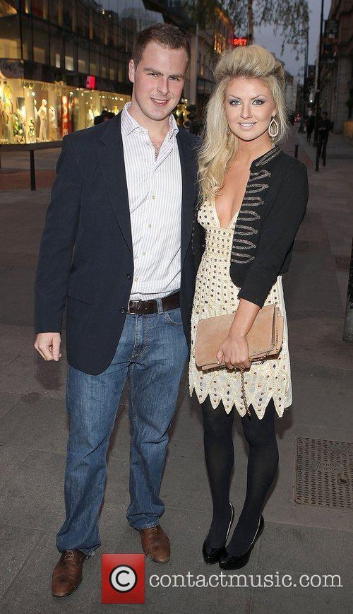 Breffni Morgan and Rachel Wallace Celebrities at Harry's...