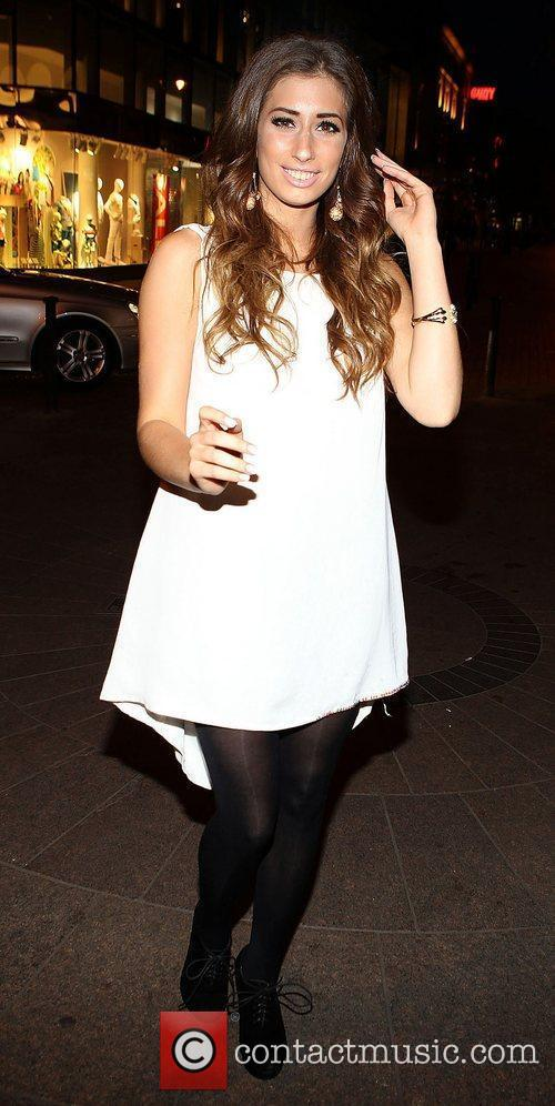 Stacey Solomon Celebrities at Harry's American Style Bar...
