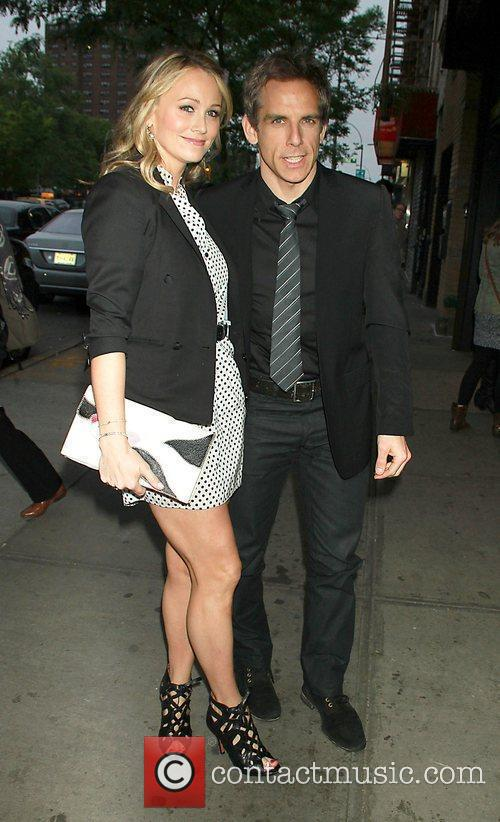 Christine Taylor, Ben Stiller at The Weinstein Company...