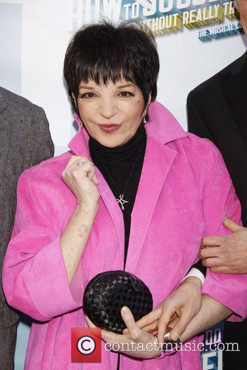 Liza Minnelli wearing Geoffrey Beene Opening Night of...