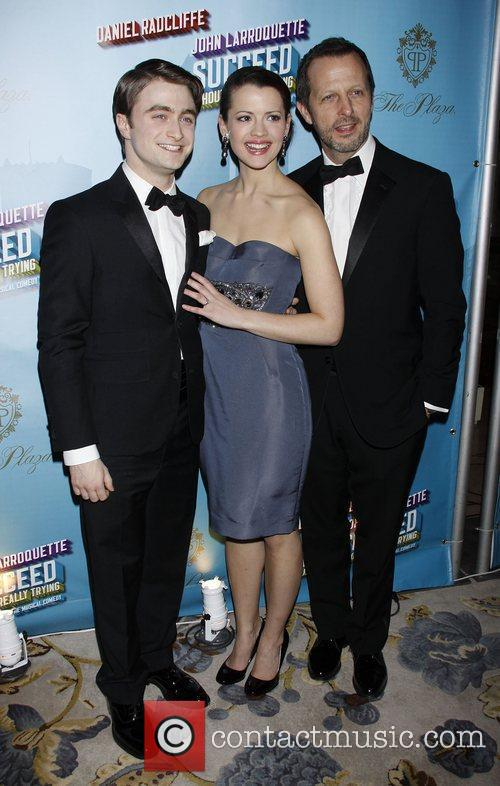 Daniel Radcliffe, Rose Hemingway and Rob Ashford Opening...