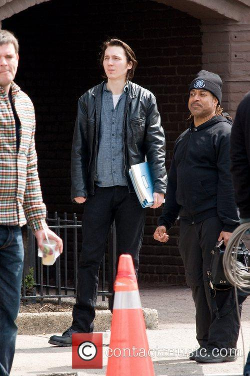 Paul Dano on the set of his new...