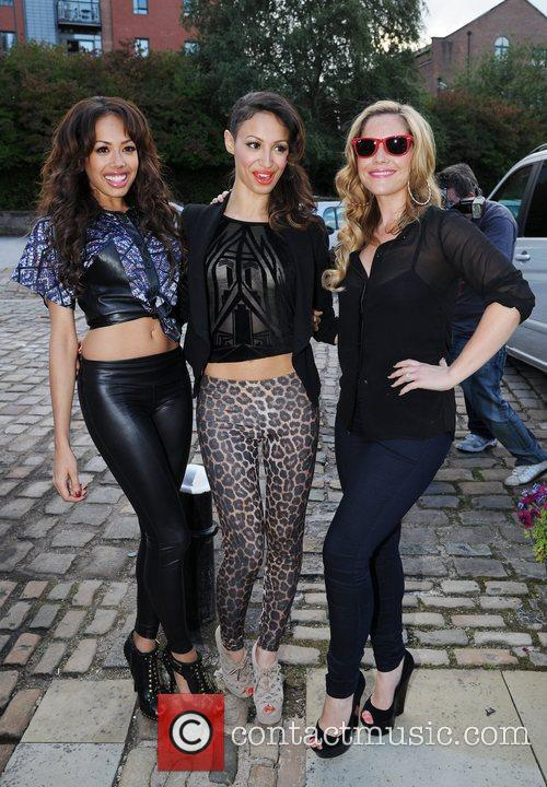 The Sugababes arrive at Key 103 Manchester, as...