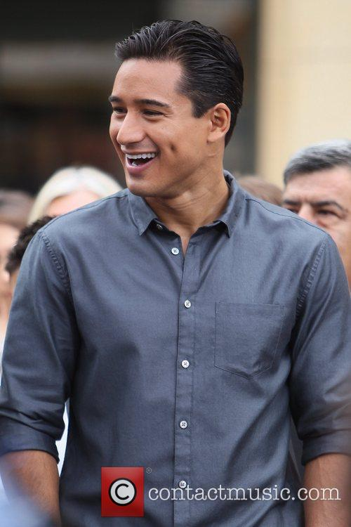 Mario Lopez Cast members of 'Super 8' at...