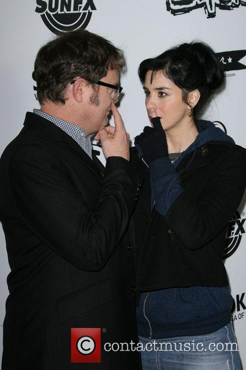 Rainn Wilson and Sarah Silverman 2