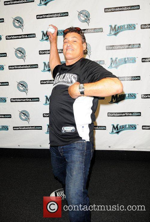 Steven Bauer attends the Florida Marlins Vs. The...
