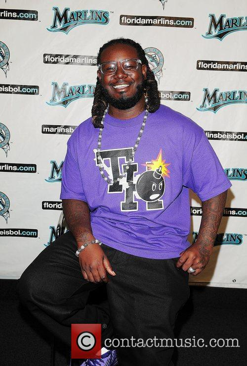 Rapper/Producer T-Pain attends the Florida Marlins Vs. The...
