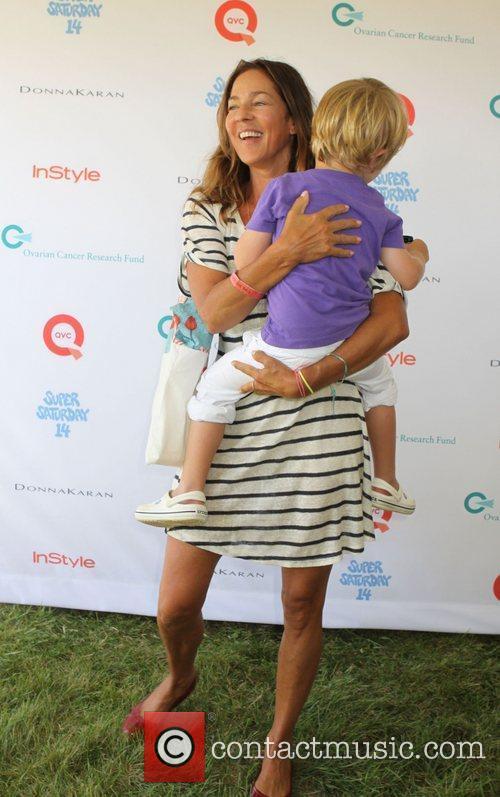 Kelly Klein and son Lukas  Super Saturday...