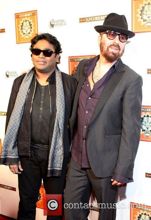 A.R.Rahman and Dave Stewart Members of Sir Mick...