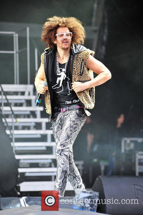 LMFAO performs in concert at Alton Towers Staffordshire,...