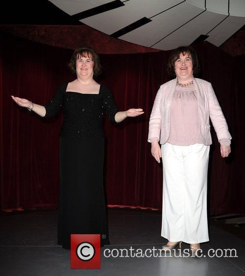 Susan Boyle attends the unveiling of her waxwork...
