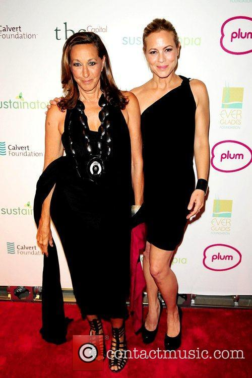 Donna Karan and Maria Bello attend the 2011...