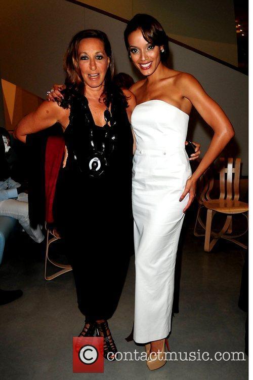Donna Karan and Selita Ebanks attend the 2011...