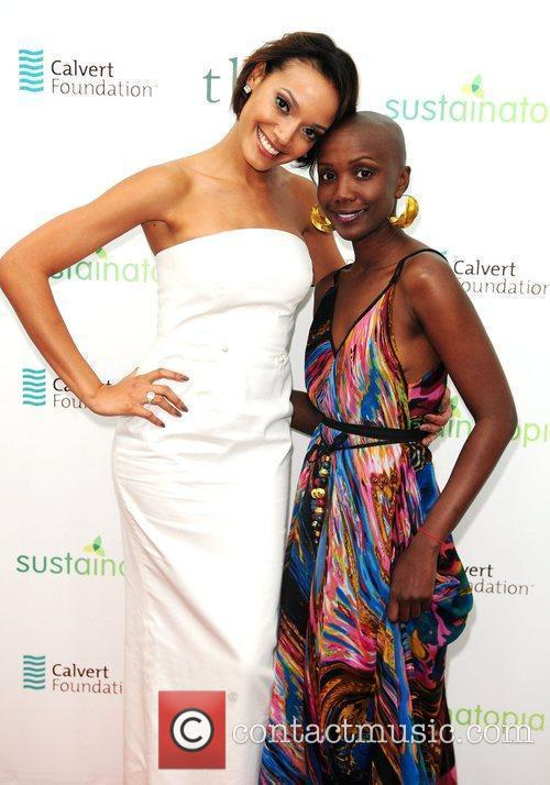 Selita Ebanks and Tiffany Persons  attend Sustainatopia...