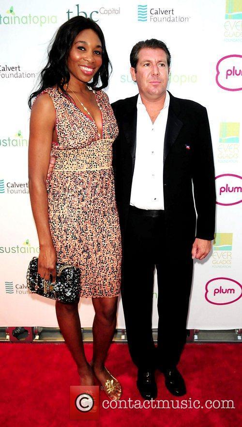 Venus Williams and Michael Capponi attend the 2011...