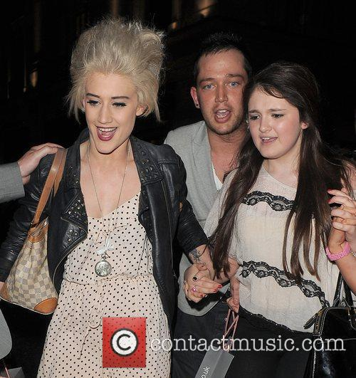 Katie Waissel and friends leaving the Swarovski CRYSTALLIZED™...