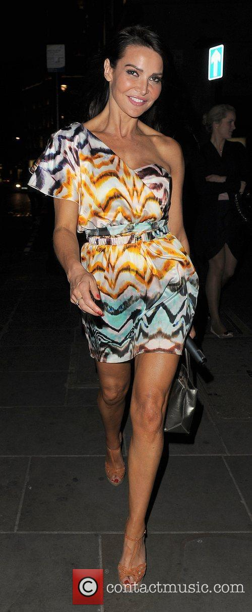 Lizzie Cundy leaving the Swarovski CRYSTALLIZED™ Party. London,...
