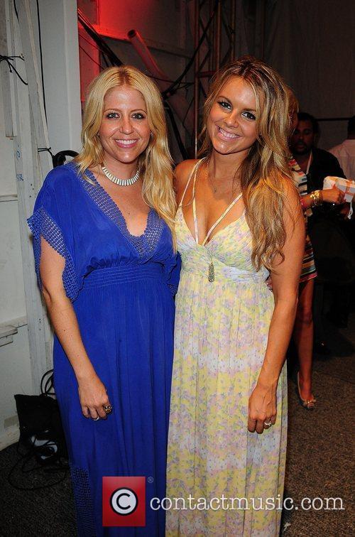 Lindsay Abanese and Ali Fedotowsky  Mercedes-Benz Fashion...