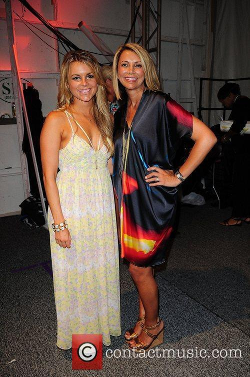 Ali Fedotowsky and Lisa Vogel  Mercedes-Benz Fashion...