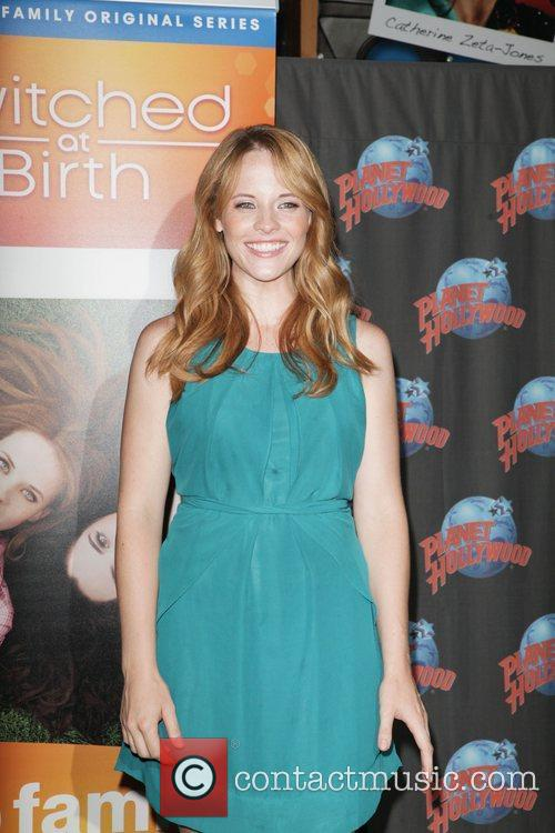 Katie Leclerc  promoting the hit ABC Family...