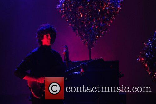 Baltimore duo Beach House performing live in concert...