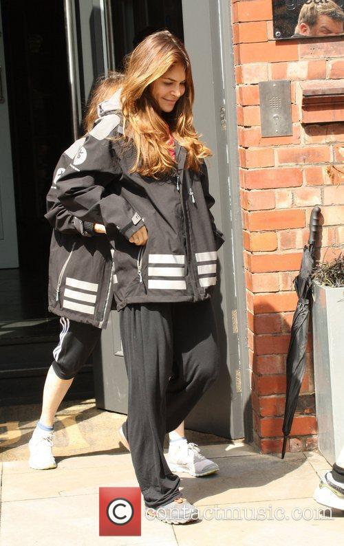 Ayda Field leaving her hotel to go to...