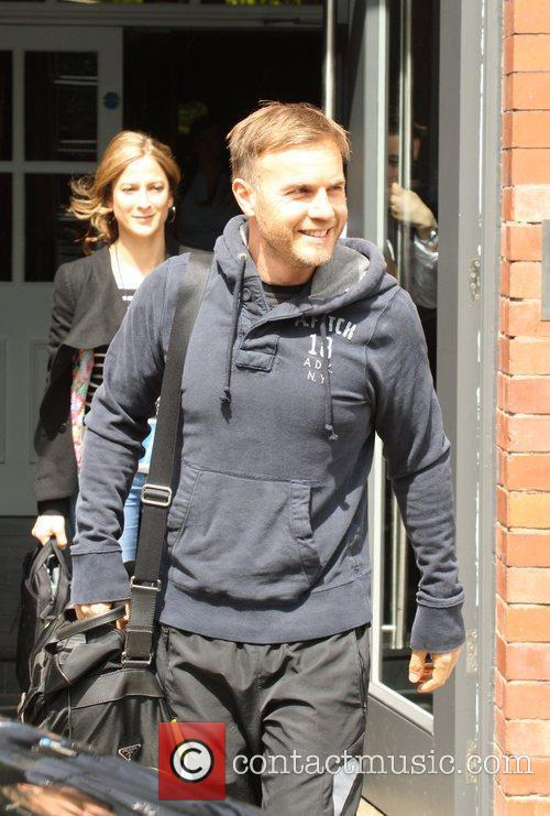 Gary Barlow of Take That  outside his...