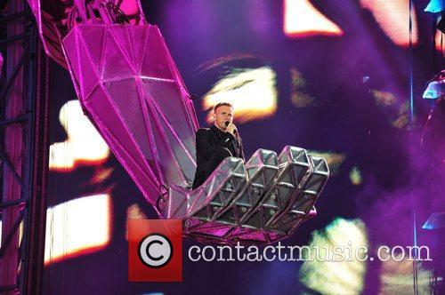 Gary Barlow Take That performing live at Sunderland...