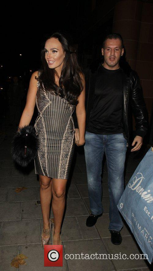 Tamara Ecclestone leaving C restaurant in Mayfair with...