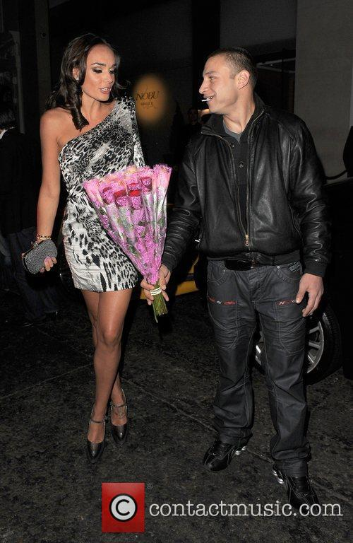 Tamara Ecclestone leaving Nobu restaurant, having dined there...