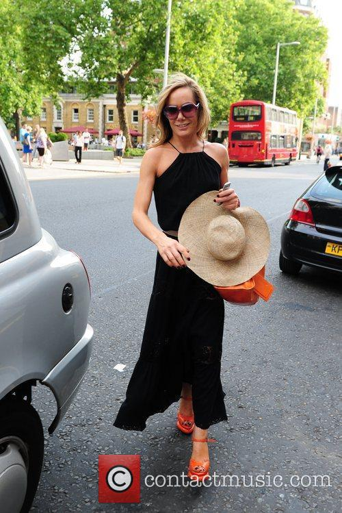 Tara Palmer Tomkinson seen leaving Richard Ward Hair...