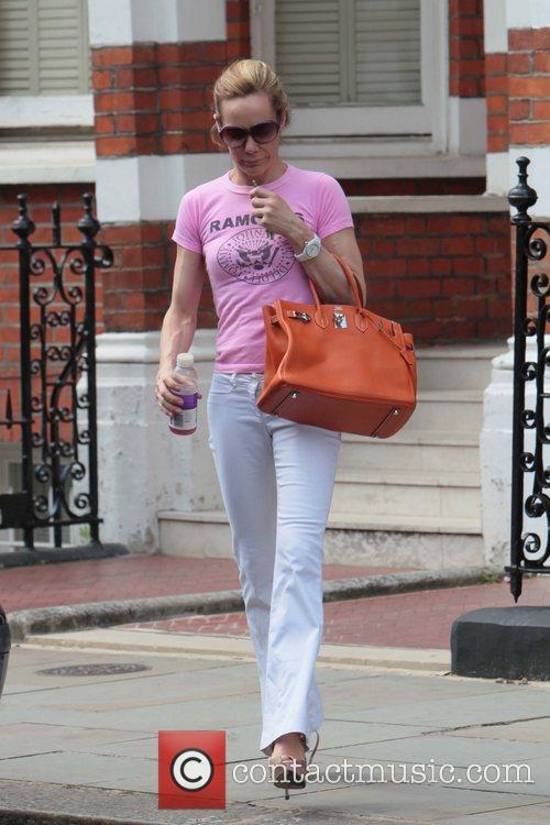 Tara Palmer Tomkinson  leaving her home in...