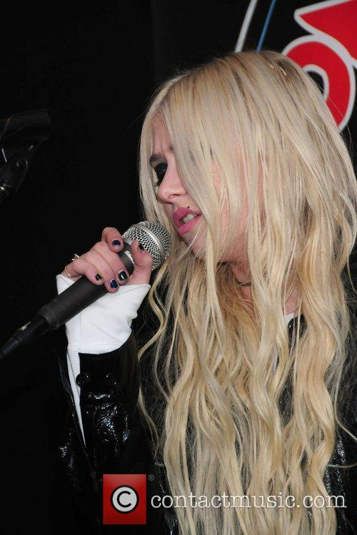 Taylor Momsen and her band Pretty Reckless perform...
