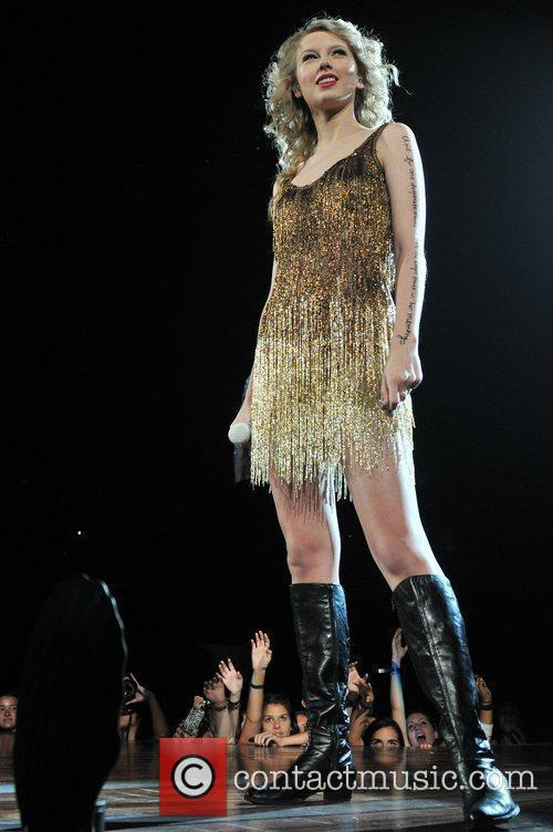 Taylor Swift  performs during the 'Speak Now'...