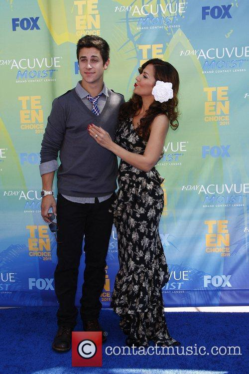 Maria Canals-Barrera and David Henrie 2011 Teen Choice...